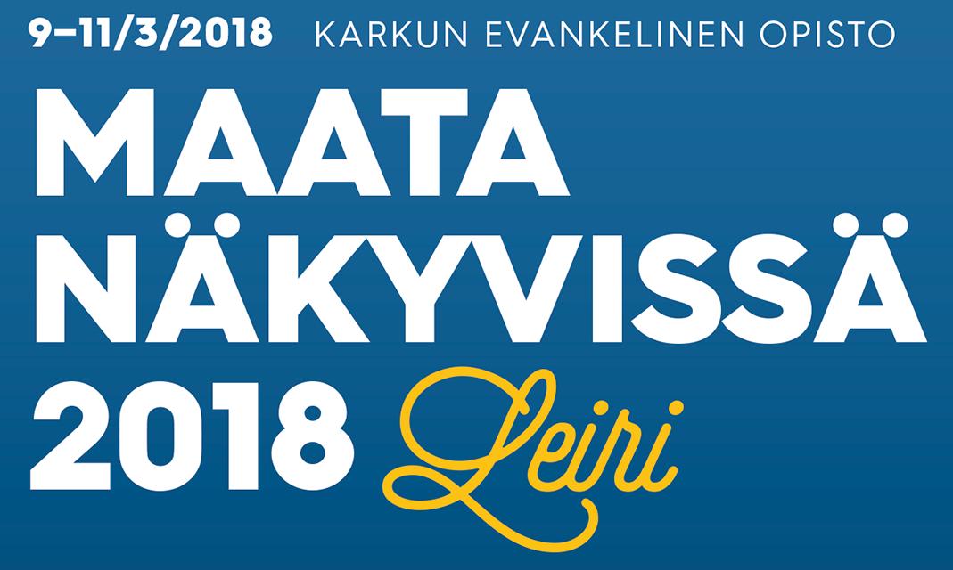 Maata Näkyvissä -leiri 2018